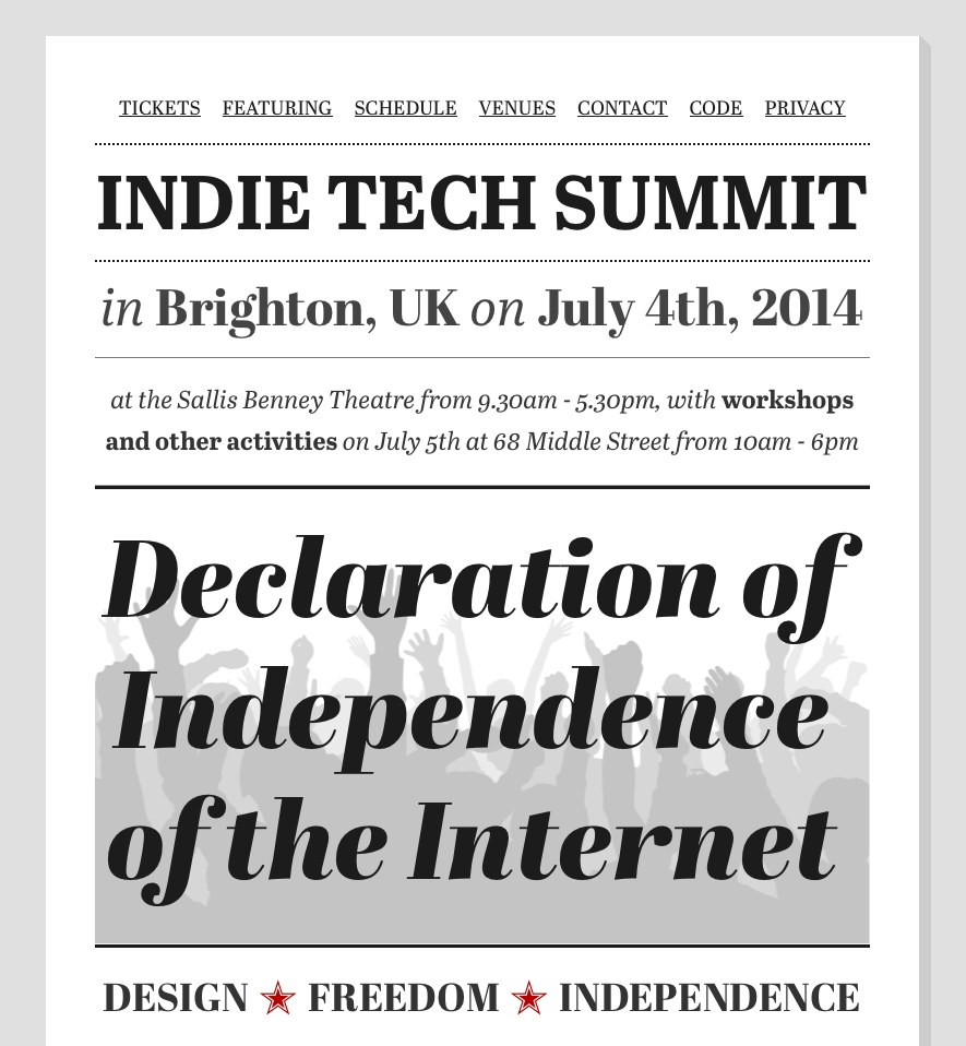 Ind.ie Summit website